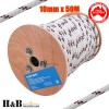 10mm 50M Double Braided Polyester Rigging Line Yacht Rope Boat Mooring BR