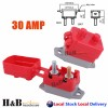2X30A AMP 12V Circuit Breaker Cover Stud Type Fuse Automatic Auto Reset