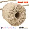 6mm x 100M Sisal Rope Natural Fiber Prime Quality Biodegradable 3 Strands