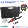 Nutsert Tool Kit Rivnut Rivet Nut Gun Mandrels M3 to M12 Carry Case 410mm length