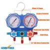 R134A Genuine Air Manifold Gauge Tool set R22 R404A R407C Refrigeration