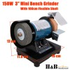 """150W 3"""" Mini Bench Grinder 1 M Flxible Shaft 1/8"""" Collet Buffer Polisher"""