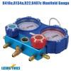 R410A R134A Genuine Manifold Gauge Set Ball Valve R22 R407C Refrigeration