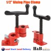 """High Quality 1/2"""" GLUING PIPE CLAMP 4 PCS WOODWORKING VICE HAND TOOLS"""