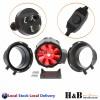 "8"" 200mm Inline Duct Fan Ventilation Exhaust Blower Stepless Speed Control"