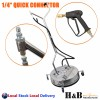 """24"""" High Pressure Surface Cleaner Stainless Steel 4000 PSI Industrial Grade Sale"""