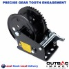1600 LBS Hand Winch Solid Precise Gear Structure Professional Taiwan Made
