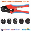 Pro 5 Dies Quick Change Electrician Cable ratchet Crimping Crimper Kit Tool Set