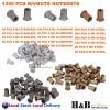 1350pcs Nutsert Tool Kit Riveter Rivnut Stainless Steel Rivet Nut Gun Mandrels