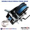 3700 LBS Hand Winch Hand Brake Stainless Steel Hook Dyneema Rope Taiwan Made