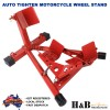 2 X Heavy Duty Auto Tighten Motorcycle Motor Motorbike Stand Front Wheel Chock