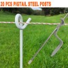 20 Pcs TREAD IN INSULATED STEEL PIGTAIL POSTS TRIP GRAZE PIG TAIL POST