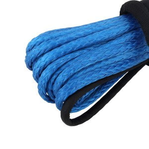 6MM x 15M Dyneema SK75 Winch Rope Blue Synthetic strap 4WD Boat Recovery