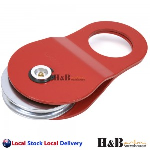 8 Ton Recovery Snatch Block Winch Rope Pulley Hoist 8T Rated Off Road Red