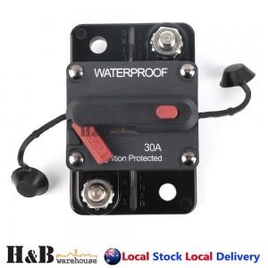 30A AMP Circuit Breaker Dual Battery IP67 Waterproof 12V 24V Fuse Manual Reset