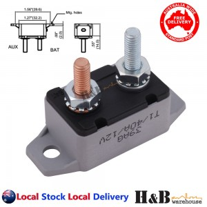 40A AMP 12V Circuit Breaker & Cover Dual Battery Fuse Automatic Auto Reset