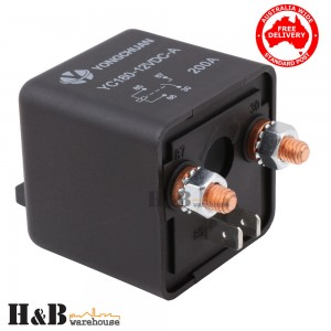Genuine 12V 200A AMP Relay High Current Split Start on off Relay Auto Boat