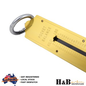 1 X 150Kg Steel Spring Balance Weighing hanging Scale Pocket Scales