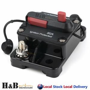 80A AMP Circuit Breaker 12V 24 Volt IP67 Waterproof Manual Reset Switch