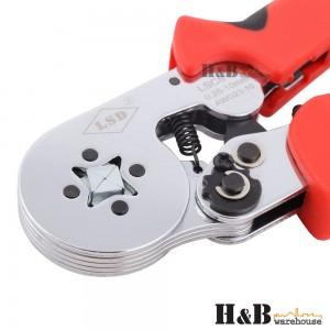 Bootlace Ferrule Crimper Terminal Ratchet Crimping Tool 0.25-10mm2 Cord End Lug