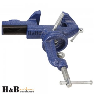 HD 60mm 360o Swivel Portable Table Bench Vice Clamp Mini Vise Anvil Cast sale