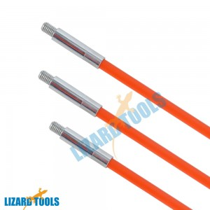 10x1M Fiberglass Cable Rod Electrican Push Puller Duct Rodder Snake Taiwan