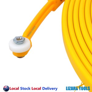 8M Fish Tape Fiberglass Cavity Cable Snake Rodder Yellow Tongue Electrician Tool