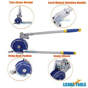 "Pro 5/8"" 16mm Plumbing Tube Bender Stainless Steel Copper Aluminum Pipe Tubing"