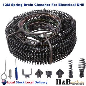 Spring Drain Cleaner Cleaning Snake Plumbing Tools STD Spirals Electrical Drill