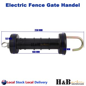 20 Pcs Electric Fence Gate Handle Insulated Spring Handles Black