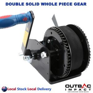 Heavy Duty 3700 LBS Hand Winch Double Gear Hand Break Marine Taiwan Made