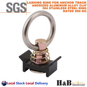 2X Anchor Track Lashing point Ring Clip 900KG Rated Trailer Truck Ute