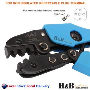 0.5- 6mm2 Ratchet Crimper Crimping Tools Non-Insulated Receptacle Plug Terminals